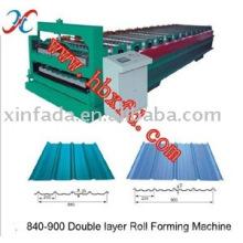 Hoja de techos de doble capa que hace la máquina