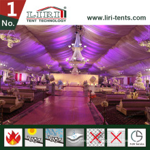 White PVC Fabric Church Maruqee Tent Roment Event Tent with Decoration