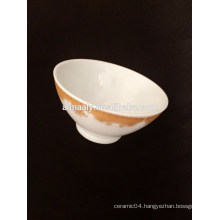 """Wholesale 4.5"""" ceramic footed bowl with decal"""
