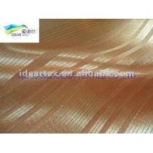 seda de imitação listra de tecido de cetim para estofos