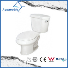 Siphonic 1.28gpf Single Flush Two Piece Elongated White Toilet (ACT9046)