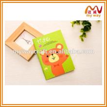 Adorable cahier de papier recyclé pour les enfants, les portables mignons papier bon marché