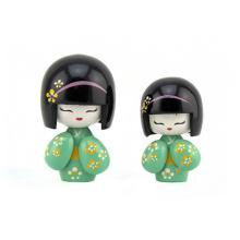 Muñeca japonesa de madera del bebé hermoso hecho a mano popular pequeño de la marca de fábrica FQ