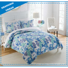 Polyester Print Home Bedding Bed Cover Quilt