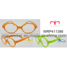 New Fashion Rubber Finish Rubber Temple Lunettes pour enfants Eyewearframe Optical Frame (WRP411386)