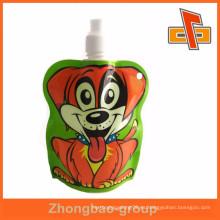 Bolso del pico del doypack de la impresión de la alta calidad agradable para la comida para bebé, empaquetado líquido