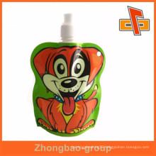 High quality nice printing doypack spout bag for baby food ,liquid packaging