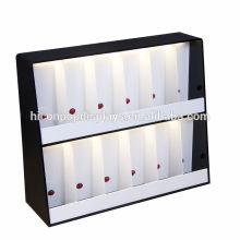 Counter Top 2 Layer 12 botellas de fragancia stand iluminación de alta gama de acrílico perfume exhibición estantes
