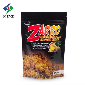Danqing emballage alimentaire stand up poche avec zip-lock