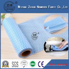 Chiffon propre de tissu non-tissé de Spunlace