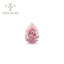 ForeverFlame 0.8ct fancy pink  Pear Cut Angel's tears diamond CVD CZ Moissanite
