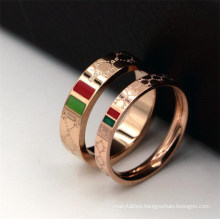 Women Stainless Steel Infinity Love Gold Plated Finger Ring for Luxury Brand Wedding Jewelry