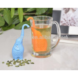 Factory Supplies BPA Free Creative Cartoon Elephant Shape Silicone Tea Strainer /Infuser/Filter