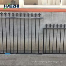 decorative aluminum fence panel glass pool factory arrow design