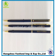 2015 best selling metal ballpoint pen with clip customized color ritz carlton hotel pen