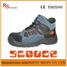 Синие Замшевые Кожаные Стальной Носок Безопасности Ботинки Безопасности Крейсер С3
