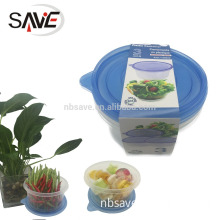3PK High Capacity disposable plastic container,take away food or fruit microwave disposable plastic container