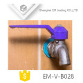EM-V-B028 Nickel plated brass bibcock with colorful handle