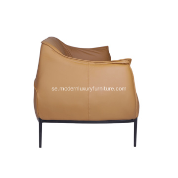 Archibald Brown Leather Tre-sits soffa