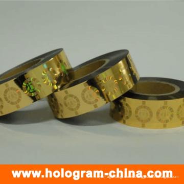 Gold Laser Roll holográfico estampado en caliente