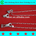 High quality galvanized steel preformed dead end clamp,preformed guy grip,cable clamp