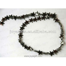8MM Loose Magnetic Hematite Star Beads 16""