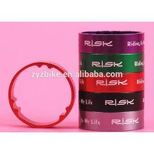 Fahrradgabel Headset Waschmaschine Aluminiumlegierung 10mm Riser Pad Multicolor Ring Dichtung Anwendbare Gabel Kaliber 28.6mm