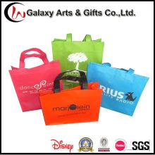 Logotipo promocional impreso mano reutilizable no tejida llevar bolsas