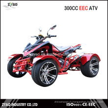 300cc Quad Bike EEC Racing ATV Refroidissement par eau Transmission Automatique CVT