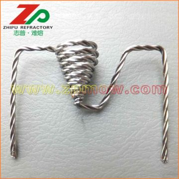 Standed tungsten wire heater