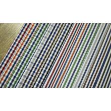 Rayas y cheques hilados cómodos teñido de tela de camiseta