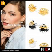 double eye design alloy stud earring.2 part fashion alloy earring
