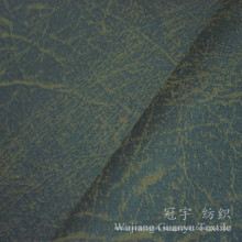 Microfiber Suede Leather Fabric with Bronzing Treatment for Sofa