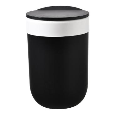 Lixeira de plástico com tampa superior de prensa