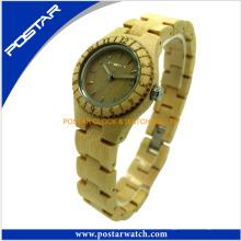 100% Natur Holz Armbanduhr für Herren mit Wasser zu widerstehen
