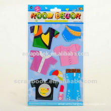 self adhesive paper cartoon paper 3D stickers