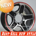 NEW! 15 inch red replica machine wheels rims