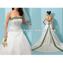 Excellent Embrodery Handmade Beading Wedding Dress