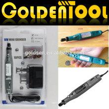 18v Portable Hobby Power Gravur Carver Poliermaschine Bohrer Werkzeuge Die Grinder Electric 10pcs Mini Rotary Grinder Kit