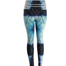 Pantalones de yoga personalizados de Spandex de impresión de cintura alta Leggings