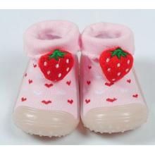 Baby Kleinkind Mädchen Pantoffel Schuhe Socken Booties Non-Slip-Gummi-Sohle