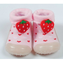 baby toddler girl slipper shoes socks booties non slip rubber sole