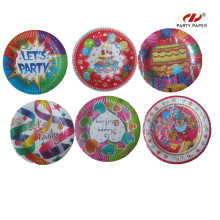 Disposable Different Design Paper Plate For Birthday