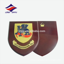 Honoring animal logo hooking wooden award plaque
