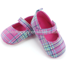 Cute grid cloth shoes baby super cheap shoes