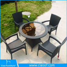 Factory Bottom Price Outdoor Furniture Black Rattan Coffee Table