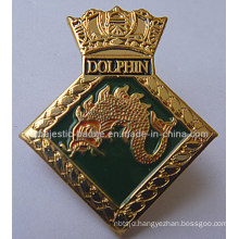 Customized Dragon Plating Gold & Soft Enamel Lapel Pin (MJ-PIN-133)