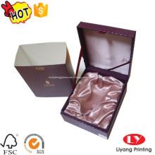 Boîte de logo de cadeau d'emballage de bijoux en carton de luxe