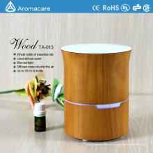 Aromaterapia difusor de aroma de aceite esencial en humidificador- grano de madera