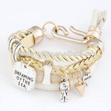 Heißes verkaufendes jugendlich ledernes Armband